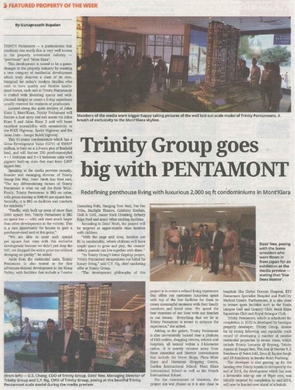 TRINITY GROUP GOES BIG WITH PENTAMONT