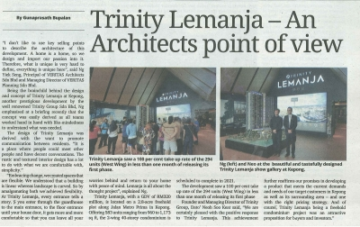Trinity Lemanja - An Architects Point of View